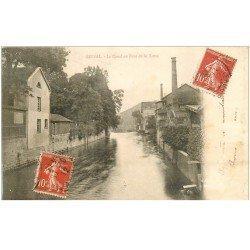 carte postale ancienne 88 EPINAL. Canal au Pont de la Xatte 1902