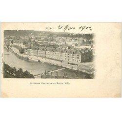 carte postale ancienne 88 EPINAL. Caserne Contades et Petite Ville 1902