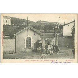 carte postale ancienne 88 EPINAL. Caserne de la Vierge Quartier Dorsner 1922 Porte de Garde