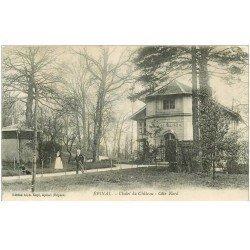 carte postale ancienne 88 EPINAL. Chalet du Château animation 1916