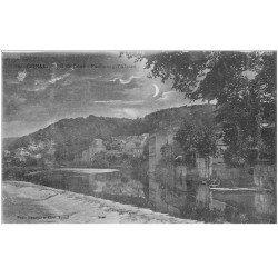 carte postale ancienne 88 EPINAL. Faubourg Alsace effet de Lune