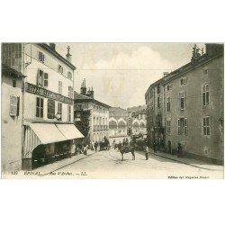 carte postale ancienne 88 EPINAL. Hôtel Restaurant Moderne rue d'Arches 1915