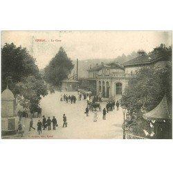 carte postale ancienne 88 EPINAL. La Gare 1905