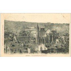 carte postale ancienne 88 EPINAL. La Ville vue du Château 1905