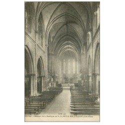 carte postale ancienne 14 LA DELIVRANDE. Basilique intérieur 1919