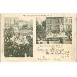 carte postale ancienne 88 EPINAL. Les Touristes. Cavalcade de Bienfaisance Char de la Société des Fêtes 1902