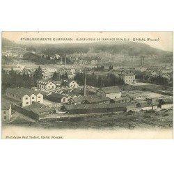 carte postale ancienne 88 EPINAL. Manufacture Kampmann chapeaux de paille 1906