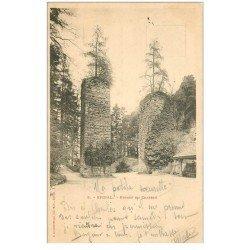 carte postale ancienne 88 EPINAL. Piles ancien Pont Levis du Château 1900