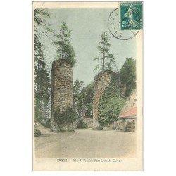carte postale ancienne 88 EPINAL. Piles ancien Pont Levis du Château 1911