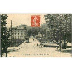 carte postale ancienne 88 EPINAL. Pont de la Loge Blanche 1910