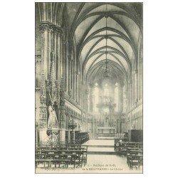 carte postale ancienne 14 LA DELIVRANDE. Basilique le Choeur