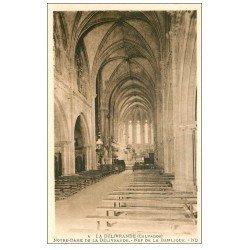 carte postale ancienne 14 LA DELIVRANDE. Basilique Nef