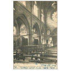 carte postale ancienne 14 LA DELIVRANDE. Basilique Notre-Dame avec les Chapelles 1926