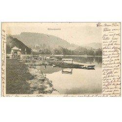 carte postale ancienne 88 GERARDMER. Bords du Lac 1904