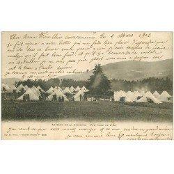 carte postale ancienne 88 GERARDMER. Camp de la Cercenée 1903 Militaires et tentes