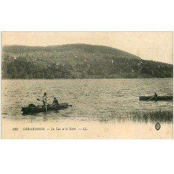 carte postale ancienne 88 GERARDMER. Canoteurs et Pêcheurs Lac de la Xetté