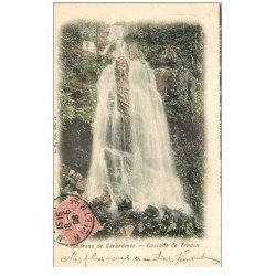 carte postale ancienne 88 GERARDMER. Cascade de Tendon 1908