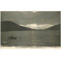 carte postale ancienne 88 GERARDMER. Coucher de Soleil sur le Lac