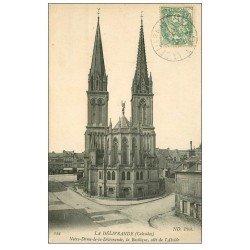 carte postale ancienne 14 LA DELIVRANDE. Basilique vers 1906