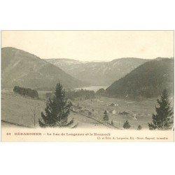 carte postale ancienne 88 GERARDMER. Lac de Longemer et le Honneck