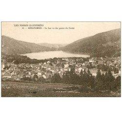 carte postale ancienne 88 GERARDMER. Le Lac et pentes du Costet 1926