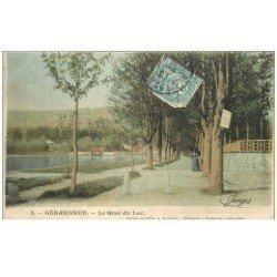carte postale ancienne 88 GERARDMER. Le Quai du Lac 1907