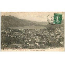 carte postale ancienne 88 GERARDMER. Panorama Ville et Lac 1912