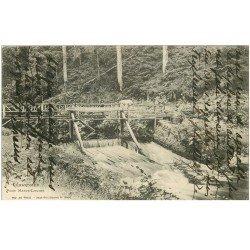 carte postale ancienne 88 GERARDMER. Personnage sur le Pont Marie Louise 1904