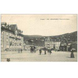 carte postale ancienne 88 GERARDMER. Place de la Mairie Terminus Hôtel