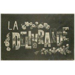 carte postale ancienne 14 LA DELIVRANDE. Fantaisie 1906. Un peu gondolée