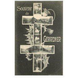 carte postale ancienne 88 GERARDMER. Souvenir avec Croix de Lorraine