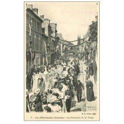 carte postale ancienne 14 LA DELIVRANDE. La Procession de la Vierge