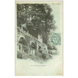 carte postale ancienne 88 LA FEUILLEE DOROTHEE. 1906 le Val d'Ajol Terrasses et cage à lapins