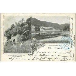 carte postale ancienne 88 LA FEUILLEE DOROTHEE. Le Val d'Ajol 1902 Hôtel Restaurant et Couvent Hérival