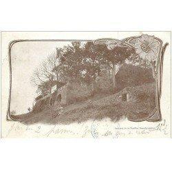 carte postale ancienne 88 LA FEUILLEE DOROTHEE. Le Val d'Ajol 1903 Terrasse Hôtel avec enfant assis