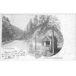 carte postale ancienne 88 LA FEUILLEE DOROTHEE. Le Val d'Ajol 1903 Vallée des Roches