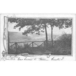 carte postale ancienne 88 LA FEUILLEE DOROTHEE. Le Val d'Ajol 1904 Hôtel et vue de la Terrasse