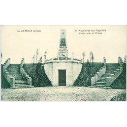carte postale ancienne 02 LA CAPELLE. Monument aux Capellois morts pour la France