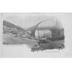 carte postale ancienne 88 LA FEUILLEE DOROTHEE. Vers 1900 Le Val d'Ajol Chalet et Vallée de la Veches Bas Hérival