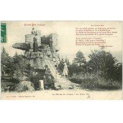 carte postale ancienne 88 SAINT DIE. La Chaire du Diable au Sapin Sec 1908