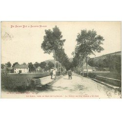 carte postale ancienne 88 SAINT DIE. Le Giron Route de Sainte Marie 1913 près de Ban de Laveline
