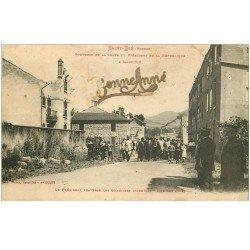 carte postale ancienne 88 SAINT DIE. Le Président Rue des Cités Quartier incendié. Véritable ajoutis Bonne Année 1917