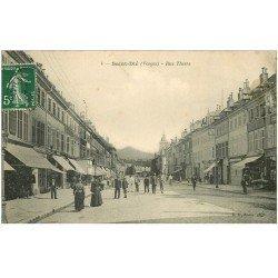 carte postale ancienne 88 SAINT DIE. Rue Thiers 1909
