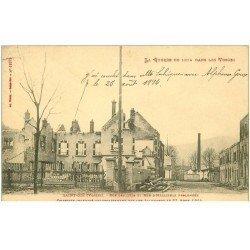 carte postale ancienne 88 SAINT DIE. Rues des Cités et Hélieulle. Quartier incendié Guerre 1914-18