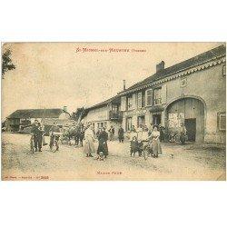 88 SAINT DIE. Rue de la Bolle maisons incendiées à la torche et au pétrole. Quartier incendié Guerre 1914-18