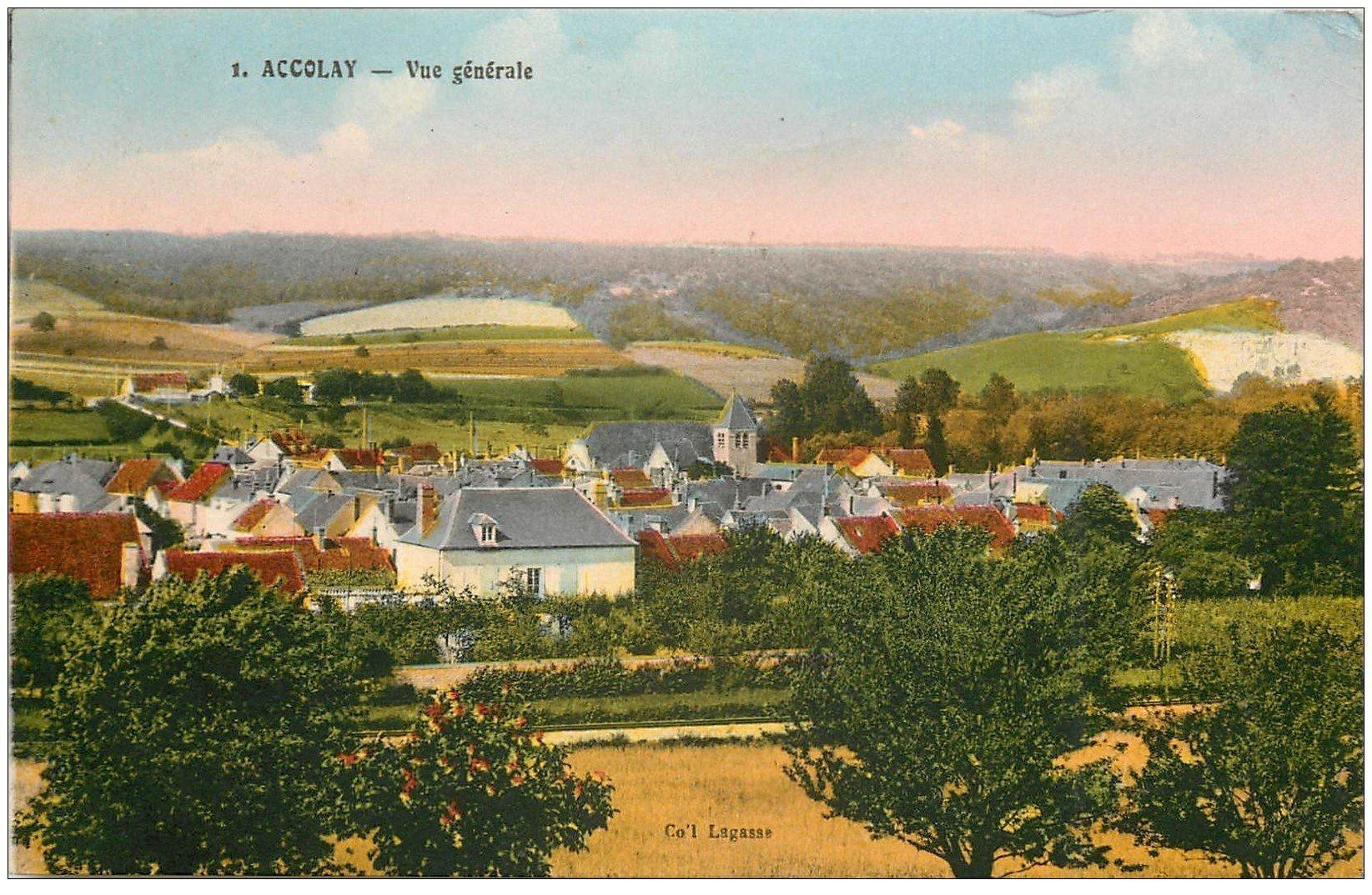 carte postale ancienne 89 ACCOLAY. Le Village 1941