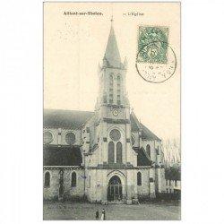 carte postale ancienne 89 AILLANT SUR THOLON. L'Eglise 1907
