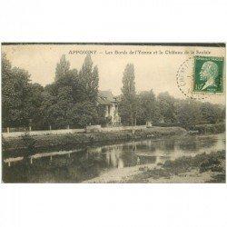 carte postale ancienne 89 APPOIGNY. Château de la Saulaie Bords de l'Yonne 1924