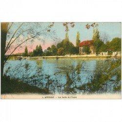 carte postale ancienne 89 APPOIGNY. Les Bords de l'Yonne