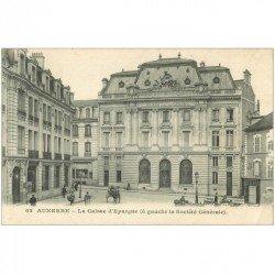 carte postale ancienne 89 AUXERRE. Caisse d'Epargne et Banque Société Générale 1919 Tailleur